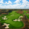 Aerial view of the par-5 7th hole at ThunderHawk Golf Club