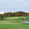 A fall view of the 17th fairway at Acorns Golf Links