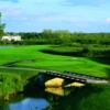 A view of hole #1 at Eagle Brook Country Club
