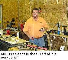 SMT President Michael Tait at his workbench